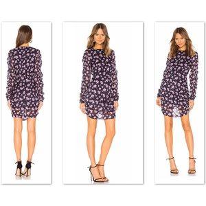 🆕BIRGITTE HERSKIND Purple Silk Floral Glory Dress